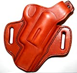 TAGUA THUMB BREAK BROWN RIGHT HAND BELT HOLSTER FOR TAURUS JUDGE PUBLIC DEFENDER 4510, 2.5'(NOT POLY)