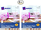 """Avery 03383 8-1/2"""" X 11"""" Ink Jet Sticker Project Paper 15 Count (Pack of 2)"""