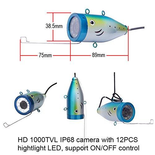 Portable fish finder underwater fishing camera system kit for Best underwater fishing camera