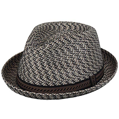 Mens Brown Cane - Bailey of Hollywood Men, Women Mannes Braided Trilby Brown Multi XXL