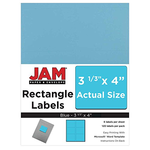 JAM PAPER Shipping Address Labels - Large - 3 1/3 x 4 - Blue - 120/Pack