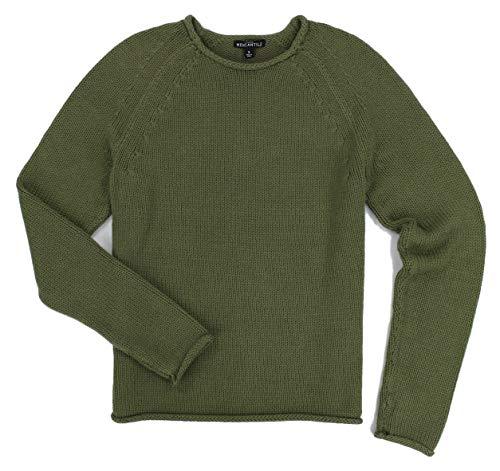 J. Crew - Women's - Crew Neck Cotton Raglan Sweater (Multiple Color/Size Options) (Medium, Green) ()