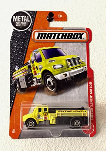 Matchbox 2017 MBX Heroic Rescue Freightliner M2 106 Fire Truck 85/125, Yellow -