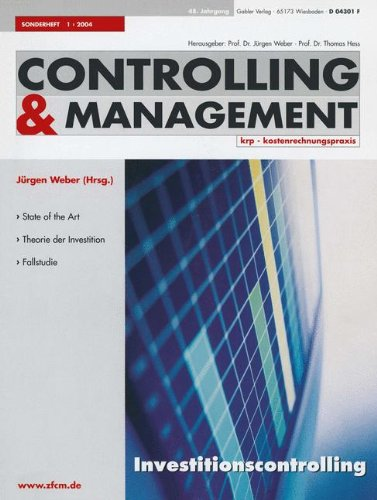 Download Investitionscontrolling (ZfCM-Sonderheft) (German Edition) PDF