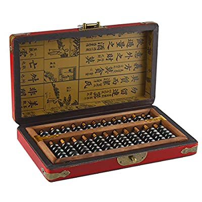 Larcele Aging Treatment Vintage Wooden Bead Arithmetic Lacquer Abacus for Children,11 Column SP-03: Toys & Games