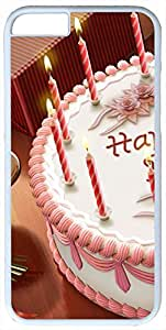 Birthday-Cake-Holiady Cases for iPhone 6 with White Skin