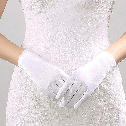 Multiware Gants Courts Femmes Gants Pour Mariage Blanc