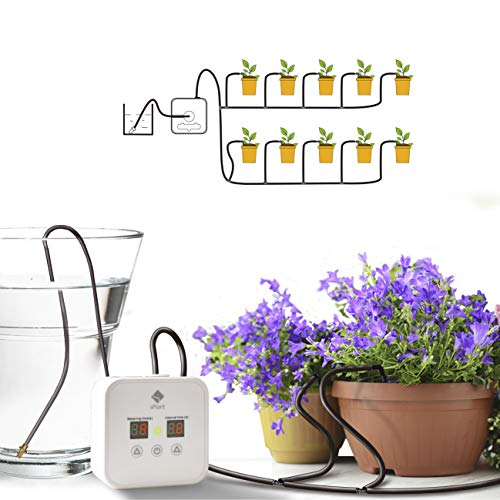 [Upgraded] Automatic Watering System, Houseplants Self Watering System with 30-Day Watering Cycle Timer,Supportable 5V…