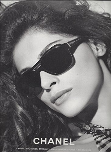 --Fashion PRINT AD-- With Elisa Sednaoui For Chanel 2011 Black Frame - Sunglasses Chanel