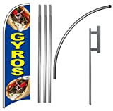 GYROS - Windless Feather Swooper Flag Banner Sign Kit bb
