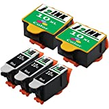 5 Pack Compatible Replacement for Kodak 10XL 10 XL (3 Black, 2 Color) 8946501 8237216 for use in ESP 3 3250 5 5210 5250 7 7250 9 9250 Office 6150 EasyShare 5100 5300 5500 Hero 6.1 7.1 9.1