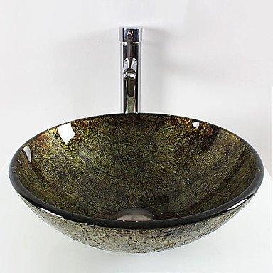 B&S Round tempered glass modern bathroom set sink RUNDESHEBEI