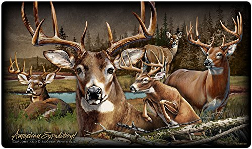 (Wildlife Collage Tempered Glass Cutting Board (Whitetail Deer))