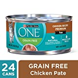Purina One Grain Free Classic Chicken Recipe Premium Pate Wet Cat Food - (24) 3 oz. Cans Larger Image