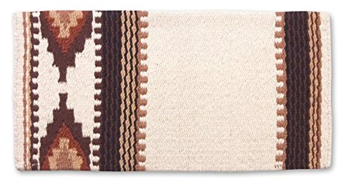 Mayatex Cowtown Saddle Blanket, Cream/Chestnut/Fawn, 36 x 34-Inch ()