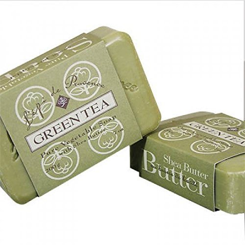 L'epi de Provence Triple Milled Green Tea Shea Butter Vegetable Soaps from France 200g