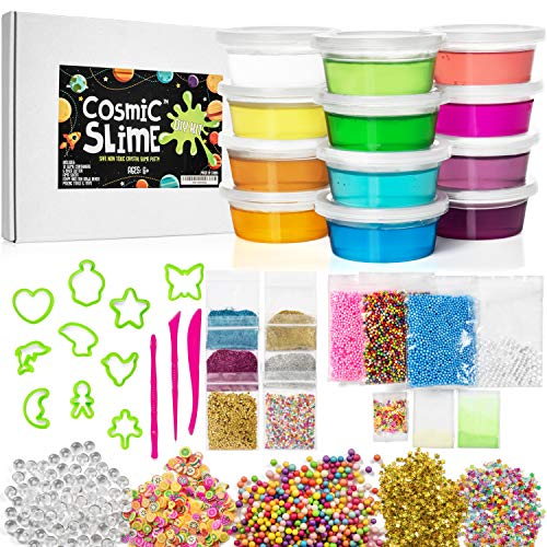 Cosmic Slime Kit - Slime Supplies, Make Your Own Slime Kit, Non-Toxic Clear Putty, Slime Kit for Girls and Boys, Sensory Toy, Great Gift for Girls and Boys