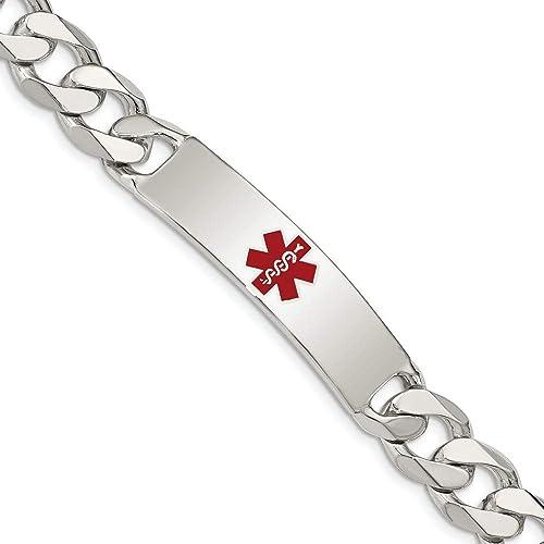 Sterling Silver Medical ID Curb Link Bracelet