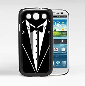 Black And White Tuxedo Hard Snap On cell Phone Case Cover Samsung Galaxy S3 I9300