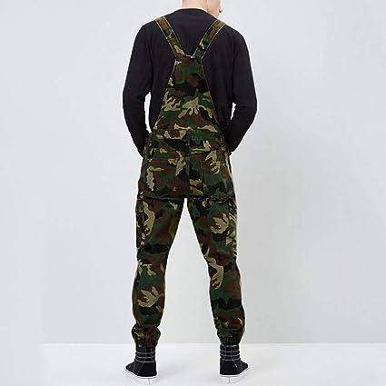 Vaqueros Hombre Pantalón Chandal Mono Jumpsuit Camuflaje Talla ...