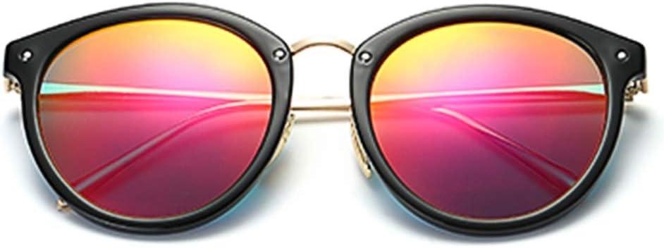 ALGWXQ Personnalité Lunettes de Soleil de marée Femmes, Mode rétro Long Visage coloré Film Lunettes de Soleil Visage Rond Lunettes de Conduite Hipster (Color : Gray) Pink
