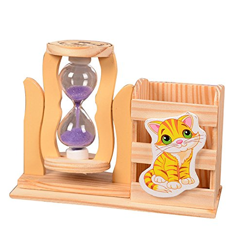 Desk Sand Time Clock Westminster Magnetic Hour Glass Timer Desktop Office Toy - Party Favors for Party, Halloween, Christmas -