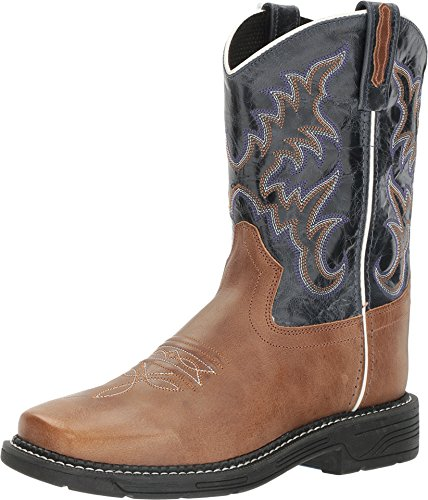 Old West Kids Boots Unisex Square Toe Work Sole Boot (Big Kid) Tan Fry Boot (Old West Outfit)