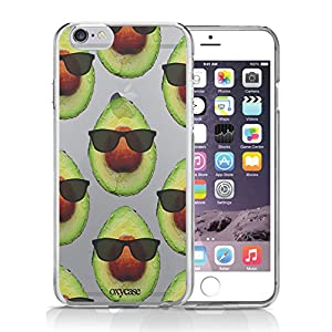 iPhone 6 6S Case Cool Avocado Pattern Sunglass Guacamole Guac Funny Transparent Unique Design Pattern Cover For iPhone 6S also fits iPhone 6 By Oxycase