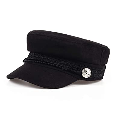HYF Autumn Lagy Octagonal Hats Women Flat Military Baseball Cap Ladies Solid Caps Women Casual Berets Hat Gorra Militar (Color : Black, Size : 56-58cm) at ...