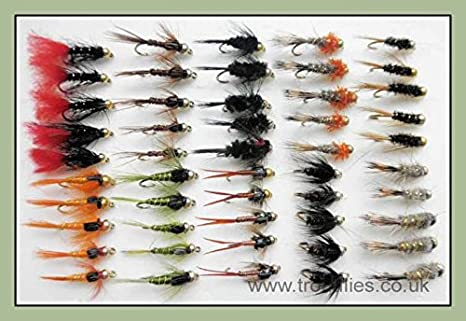 FLIES 50 Mixed Nymphs