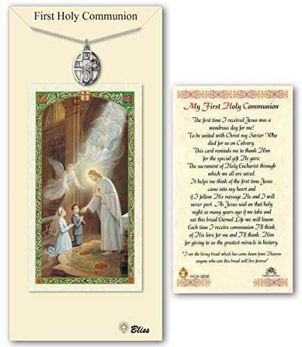 - Pewter 5-Way Chalice Communion Medal with Laminated Holy Prayer Card