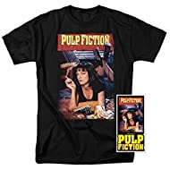 Pulp Fiction Movie Poster Uma Thurman T Shirt & Exclusive Stickers