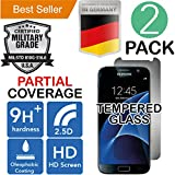 Samsung Galaxy S7 [2Pack] PREMIUM [Bubble Free] Case Friendly [Scratch Shatter Proof] High Definition Ultra Clear [Laser Cut] Oleophobic [9H+ Ballistic] Tempered Glass [Easy Install] Screen Protector
