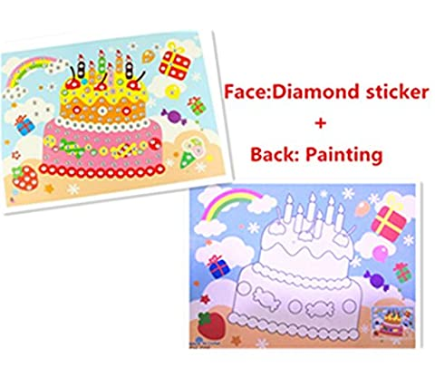 Vytung Mosaics Diamond Sticker Face with Painting Picture on Back Animals Craft Cake Fish Butterfly for Kids(Pack of (Scratch And Sniff Stickers Bulk)
