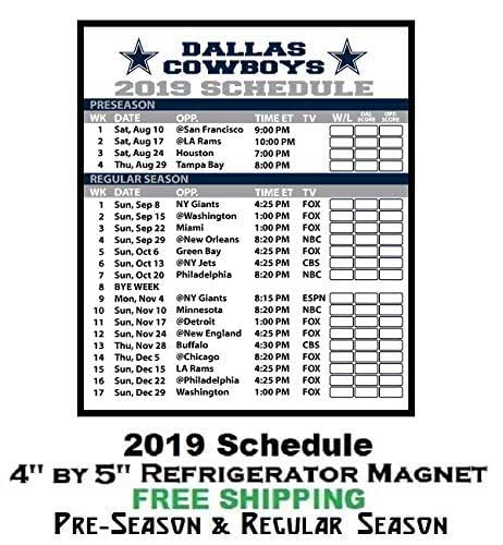 37420c4f Dallas Cowboys NFL Football 2019 Full Season Schedule Refrigerator Magnet  308