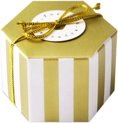 Toyvian Hexagon Mini Candy Box Caja de regalo de papel Kraft Caja de azúcar para favores de fiesta 50 piezas (Sin tarjeta y cuerda): Amazon.es: Hogar