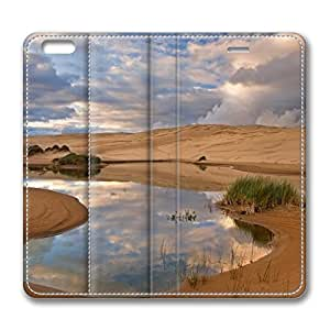 iPhone 6 4.7inch Leather Case, Umpqua Dunes Siuslaw National Forest Oregon Personalized Protective Slim Fit Skin Cover For Iphone 6 [Stand Feature] Flip Case Cover for New iPhone 6 wangjiang maoyi