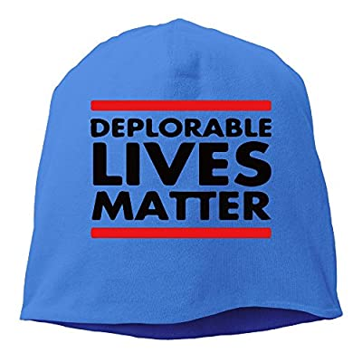 DEPLORABLE LIVES MATTER Trump Beanie Hat Knit Cap For Adult (6 Colors)