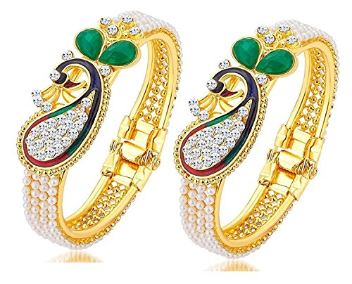Multi Peacock Style Gold Plated Indian B - Multi Bangle Set Shopping Results