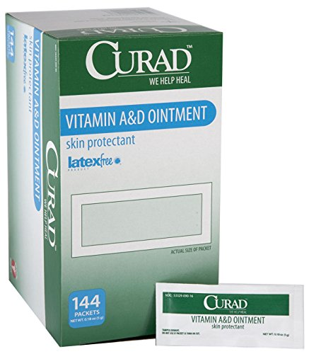 Medline CUR003545 Curad A and D Ointment, 5 g Foil Packets, White (Pack of 864)