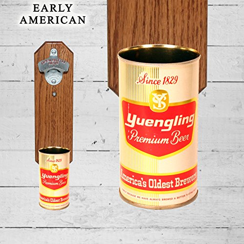 Wall Mounted Bottle Opener with Vintage Yuengling and Son Be