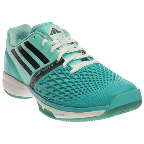 adidas-Women`s CC Adizero Tempaia III Tennis Shoes Vivid Mint and Black-(8873838