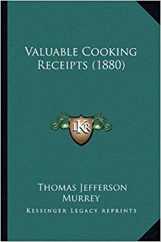 Book Valuable Cooking Receipts (1880)