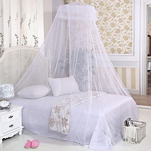 LEIZENG New Dome Elegent Polyester Fabric Bed Netting Canopy Mosquito Net