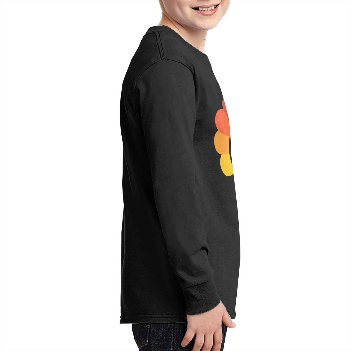 Boys Soft Long Sleeve Crew Neck Cotton Pilgrim Turkey Tee Top for Youth