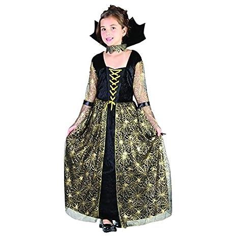 Disfraz bruja araña negro y oro niña - 4 - 6 años: Amazon.es ...