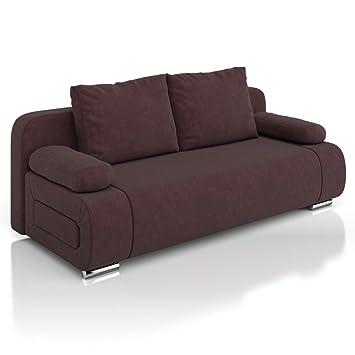 Marvelous Vicco Schlafsofa Sofa Couch Ulm Federkern 200x91cm Mikrofaser Braun  Schlafcouch Good Looking