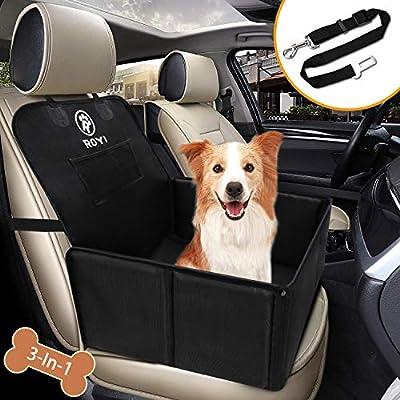 Wimypet Hunde Autositz für Kleine Mittlere Hunde, Robust Rückbank Vordersitz Hundesitz mit Sicherheitsgurt, Wasserdicht…