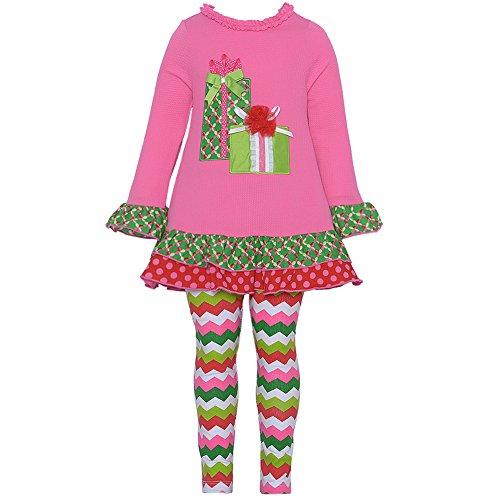 Rare Capris Pink Editions (Rare Editions Baby Baby-Girls Infant 12M-24M Present Applique Legging Set (12 Months, Fuchsia))