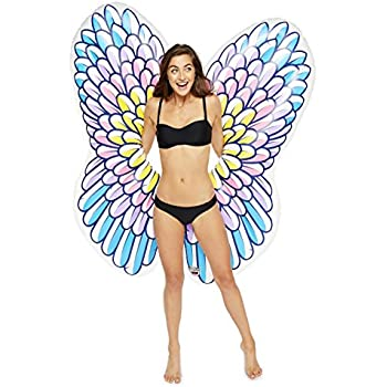 BigMouth Inc Giant Inflatable Angel Wings Pool Float, Pool Tube with Patch Kit Included, Beautiful